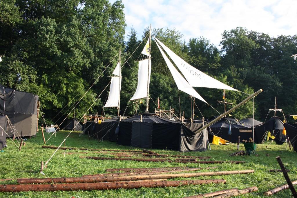 Das Segelschiff der Riedericher Pfadfinder